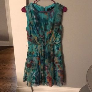 Miss 60 watercolor style belted dress Sz 8